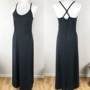 EDDIE BAUER Black Racerback Maxi Dress